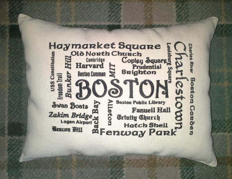 Boston hot spots pillow