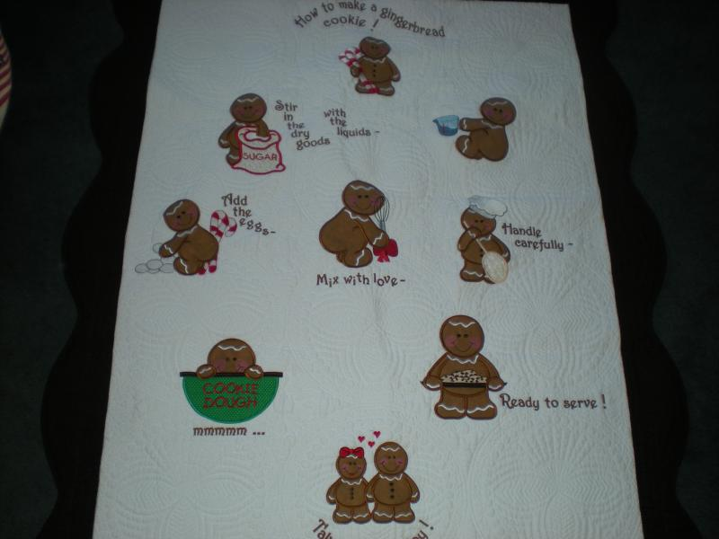 How to make a gingerbread cookie quilt
