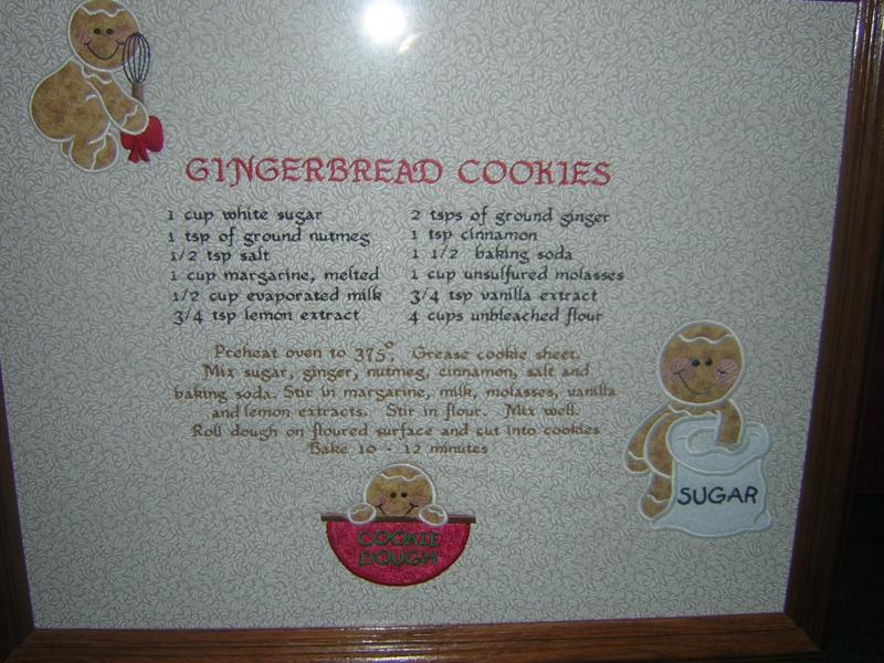 Matching Gingerbread cookie recipe pirture with cookie cutter